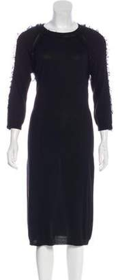 Nina Ricci Silk Knit Dress Black Silk Knit Dress