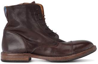 Moma Cusna Old Dark Brown Leather Ankle Boots