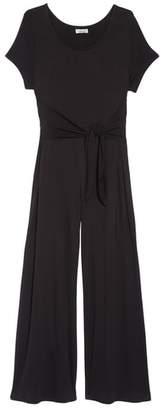 Love, Fire Tie Front Crop Jumpsuit