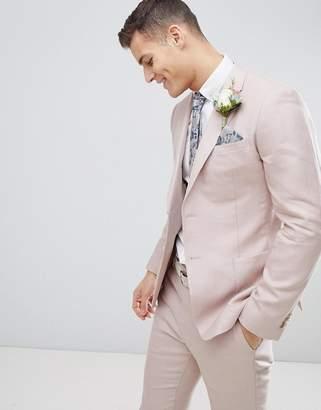 Reiss Slim Suit Jacket In Light Pink