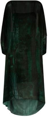 Akris Devoré Velvet Kaftan Dress