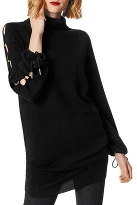 Karen Millen Lace-Up Sleeve Merino Wool Tunic