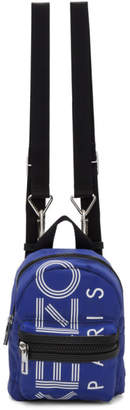 Kenzo Blue Mini Logo Backpack