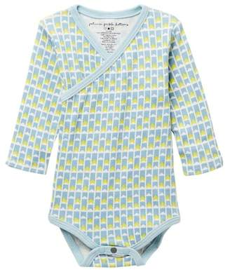 Petunia Pickle Bottom Organic Cotton Angles & Arrows Long Sleeve Bodysuit (Baby Boys)