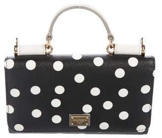 Dolce & Gabbana Miss Sicily Mini Polka Dot Wallet On Chain