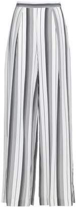 Zimmermann Striped Silk Crepe De Chine Wide-leg Pants