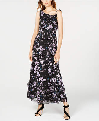INC International Concepts I.N.C. One-Shoulder Floral-Print Maxi Dress, Created for Macy's