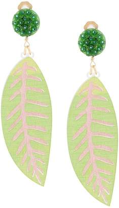 Mercedes Salazar leaf earring