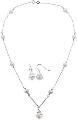 FINE JEWELRY Cultured Freshwater Pearl Orbital Earring and Necklace Set