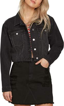Volcom Crop N Block Denim Jacket