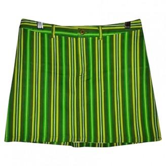 Green Cotton Zara elasthane Skirt for Women