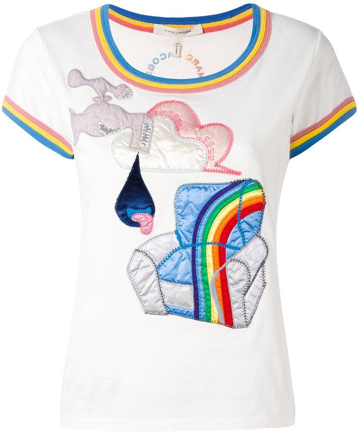 Marc JacobsMarc Jacobs Julie Verhoeven appliqué T-shirt