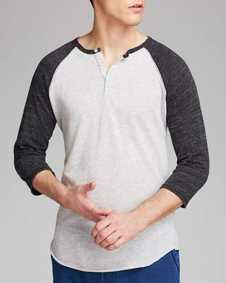 Alternative Heathered Raglan Henley