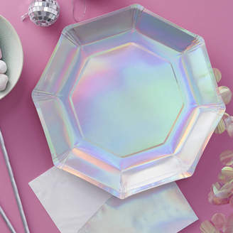 Ginger Ray Iridescent Foiled Party Paper Plate