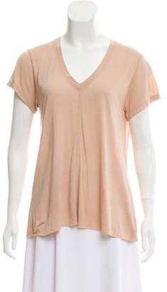 Helmut Lang Raw-Edge Short Sleeve T-Shirt