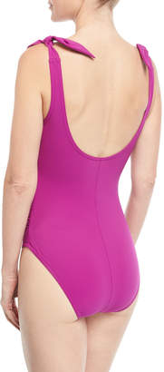 Karla Colletto Barcelona V-Neck Silent Underwire One-Piece Swimsuit
