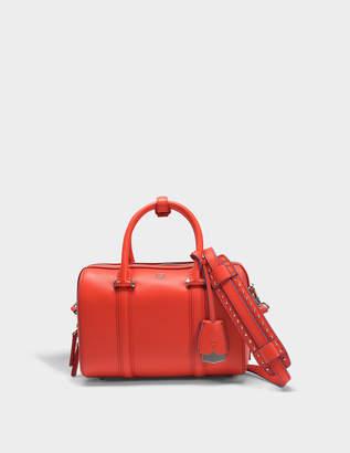 MCM Boston Small Bag in MeriGold Orange Matisse