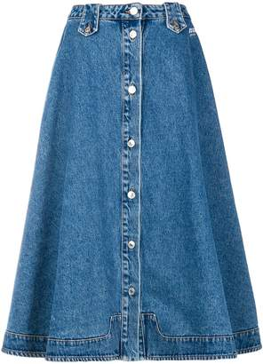 MSGM flared denim skirt