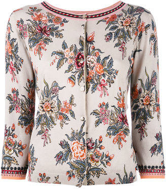 Twin-Set embellished floral cardigan $159.86 thestylecure.com