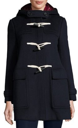 Burberry Baysfield 3-in-1 Duffle Coat w/ Removable Puffer, Navy $2,195 thestylecure.com