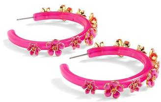 J.Crew J. Crew Flower Clock Hoop Earrings