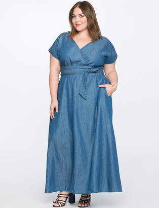 Plus Size Chambray Dress Shopstyle