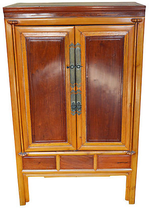 One Kings Lane Vintage Antique Lacquered Armoire - FEA Home