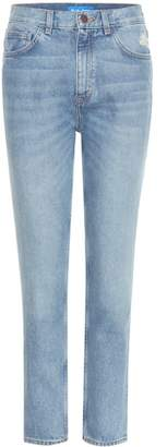 MiH Jeans Mimi distressed high-rise slim jeans