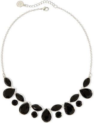 Liz Claiborne Black Faceted Stone Necklace