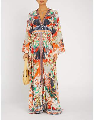 Camilla Geisha Girl silk-georgette maxi dress