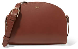 A.P.C. Demi-lune Leather Shoulder Bag - Brown
