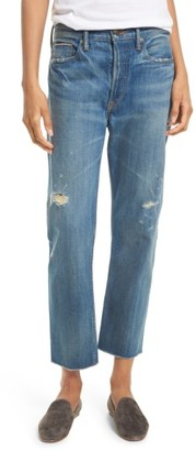 Women's Vince Union Distressed Slouch Jeans $275 thestylecure.com
