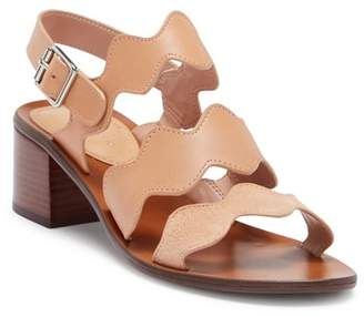 Marc Fisher Omalla Leather Scallop Sandal