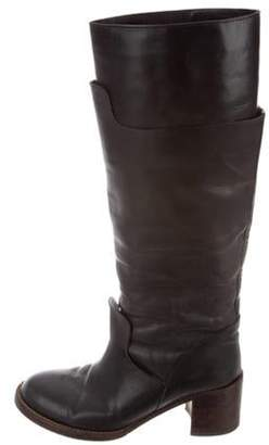 Marni Leather Knee-High Boots Black Leather Knee-High Boots