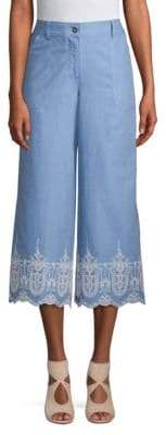 Laundry by Shelli Segal Embroidered Culottes
