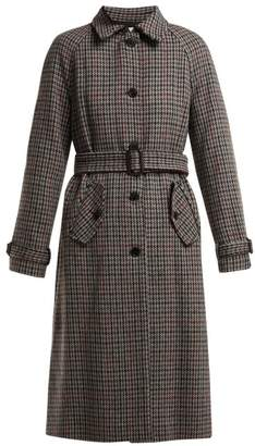 Masscob Marcia Houndstooth Wool Blend Coat - Womens - Grey Multi
