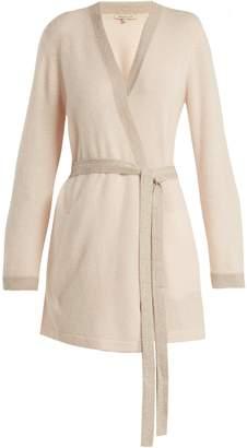 Morgan LANE Bella Lurex-trimmed cashmere robe