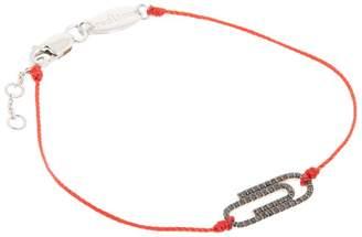 Redline Rose Gold and Black Diamond Paperclip String Bracelet