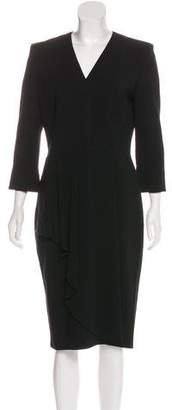 Alexander McQueen Long Sleeve Midi Dress
