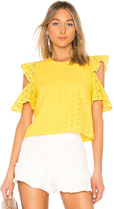 Endless Rose Eyelet Cold Shoulder Top