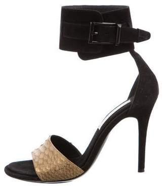 Barbara Bui Python Ankle Strap Sandals