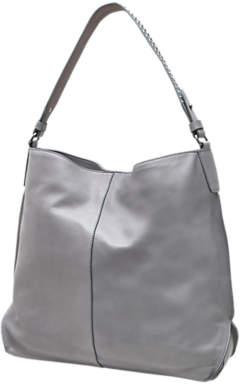 Mint Velvet Harley Leather Shoulder Bag, Light Grey