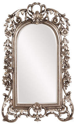 Astoria Grand Arch/Crowned top Antique Silver Wall Mirror