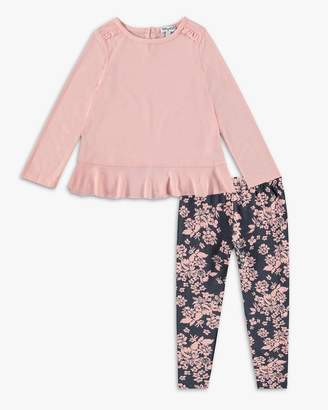 Splendid Little Girl Flounced Top Set