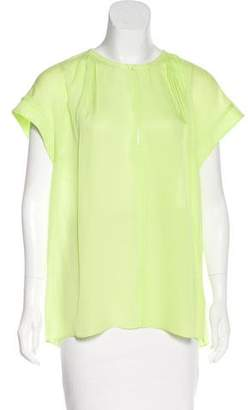 A.L.C. Silk Short Sleeve Top