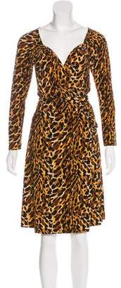 Norma Kamali Animal Print Wrap Dress