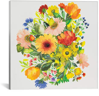 """iCanvas September Garden Bouquet"""" By Kim Parker Gallery-Wrapped Canvas Print - 18"""" x 18"""" x 0.75"""""""