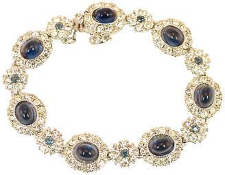 One Kings Lane Vintage Ciner Faux-Sapphire & Crystal Bracelet