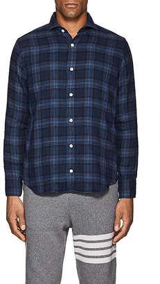 Eleventy Men's Plaid Cotton Shirt