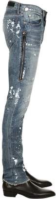 MR. COMPLETELY Trafford Painted Cotton Denim Jeans